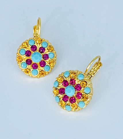 Mariana Happiness Earrings on Yellow Gold Medium