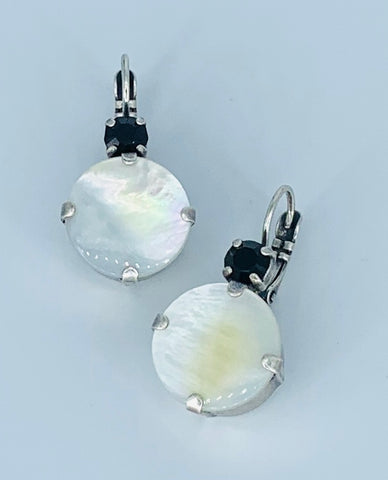 Mariana Large Earrings Blizzard on Silver