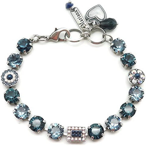 Mariana Medium Bracelet in Mood Indigo on Silver
