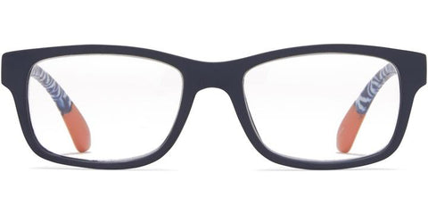 1.25 Black and Blue Arabesque Temples Readers