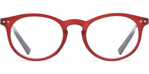 1.25 Red Gel Frame with Black Temple Readers