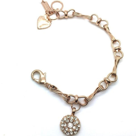 Mariana Guardian Angel Bracelet in Clear on Rose Gold
