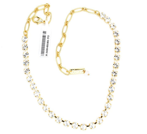 Mariana Small Necklace Clear on Gold