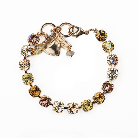Mariana Small Bracelet Meadow Brown on Rose gold