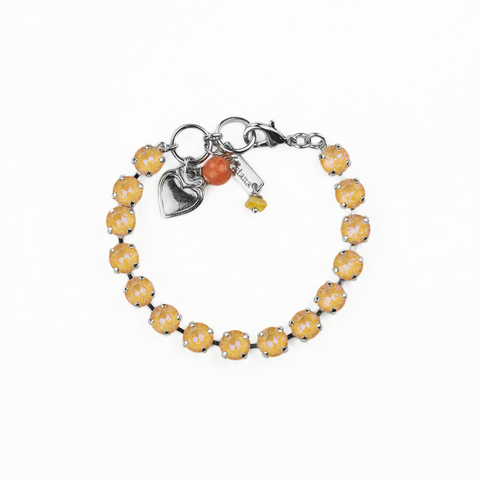 Mariana Small Bracelet Sun Kissed Creamcicle on Rhodium