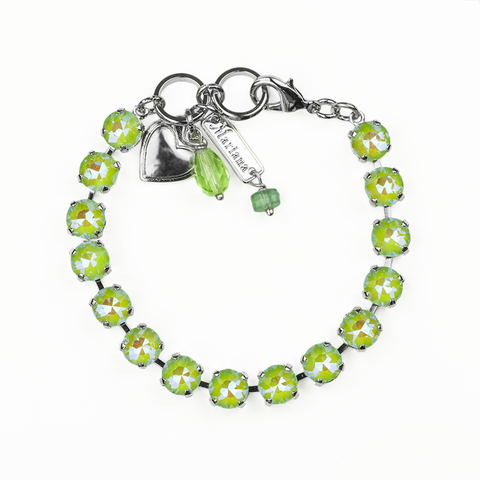 Mariana Small Bracelet Sun Kissed Peridot on Rhodium