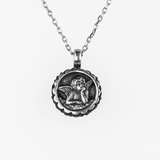 Mariana Guardian Angel Birthstone Necklace - September on Silver
