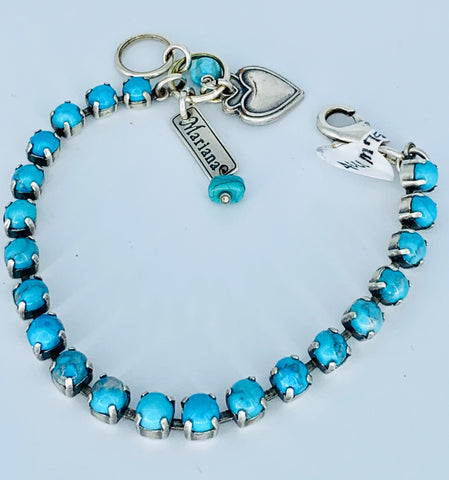 Mariana Tiny Bracelet in Turquoise on Silver