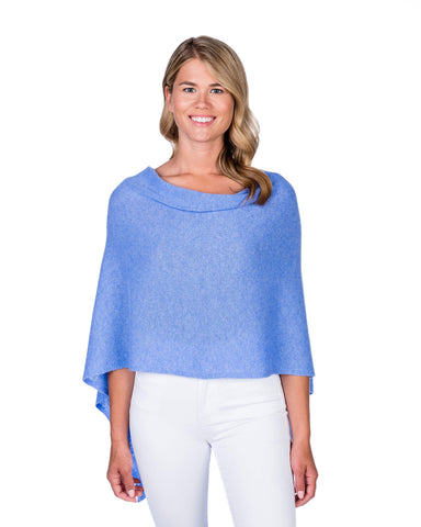 Wave Blue Cotton/Cashmere Dress Topper