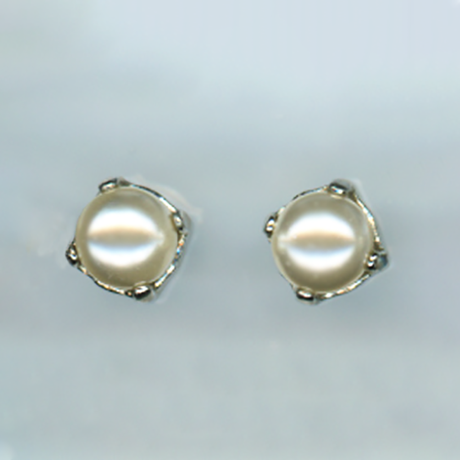 Mariana Tiny Stud Pearl on Silver