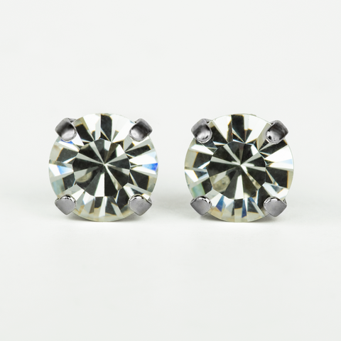 Mariana Stud Clear on Silver