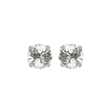 Mariana Tiny Stud Clear on Silver