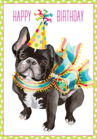 Bulldog Birthday Card
