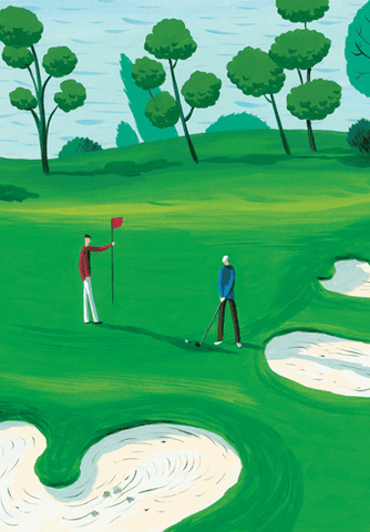 On the Links Birthday Card