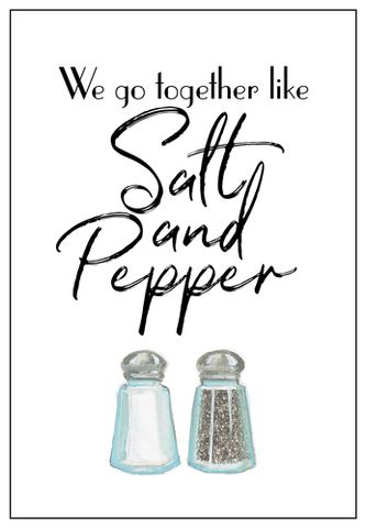 Salt and Pepper Anniversary Card