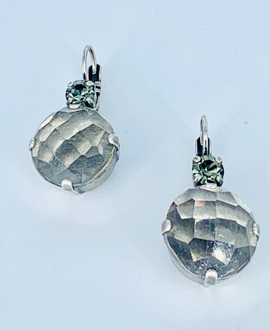 Mariana Large Earrings in Grey Rutilated Quartz