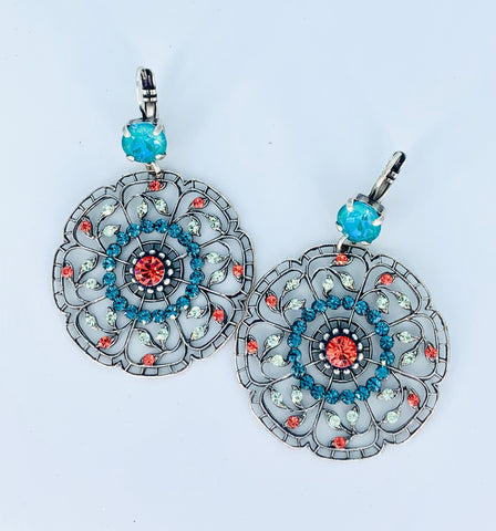 Mariana Filigree Earrings in Bird of Paradise on Silver