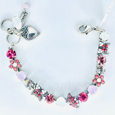 Mariana Butterfly Garden Pinks/White on Silver