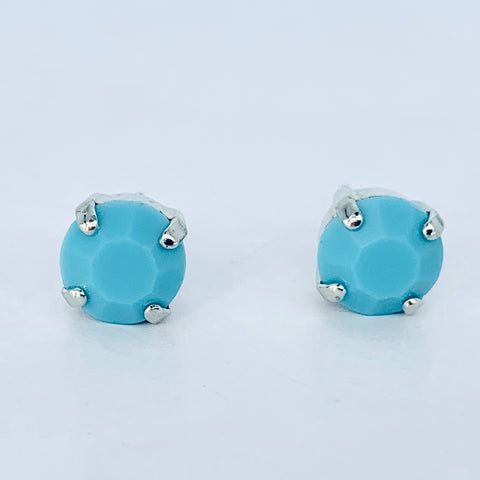 Mariana Stud Turquoise on Silver