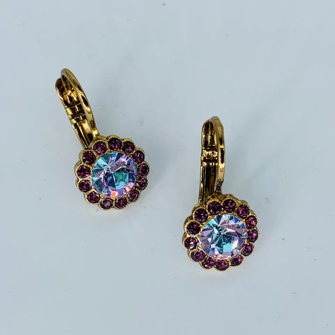 Mariana Flower Earring Lavender/Purple on Rose Gold