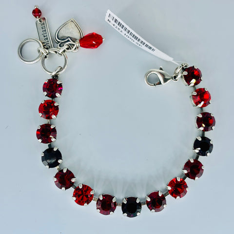 Mariana Small Bracelet in Lady in Red on Silver