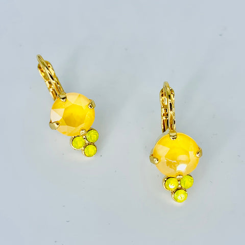 Mariana Earrings Sun Kissed Yellow on  Gold