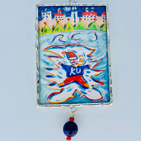 Jayhawk Snow Angel Ornament