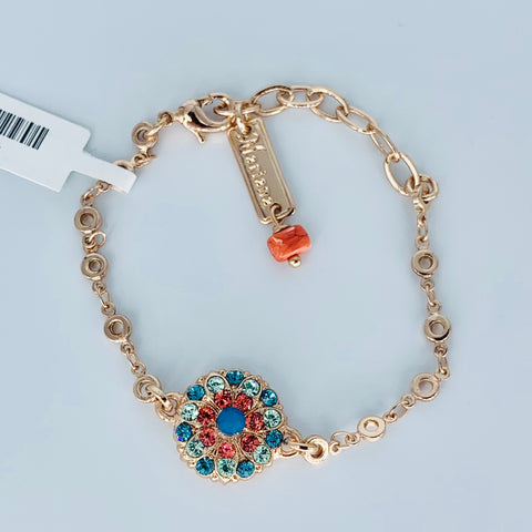 Mariana Guardian Angel Bracelet in Bird of Paradise on Rose Gold