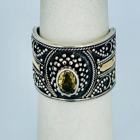 Wide Band With Oval Citron