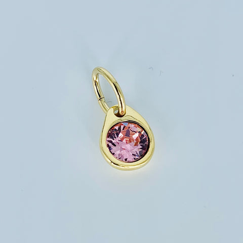 Uno Pendant Pink on Gold