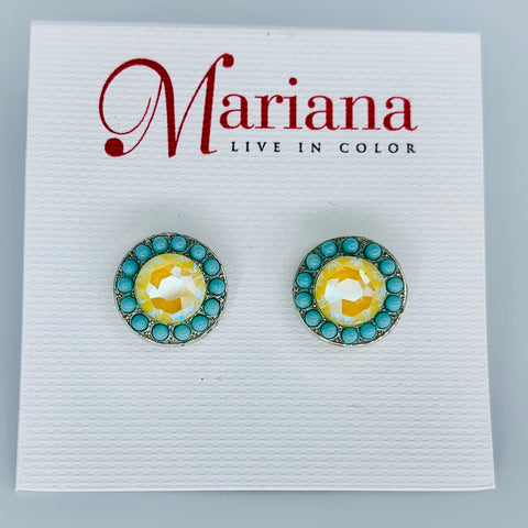 Mariana Earrings Post Poppy on Rhodium