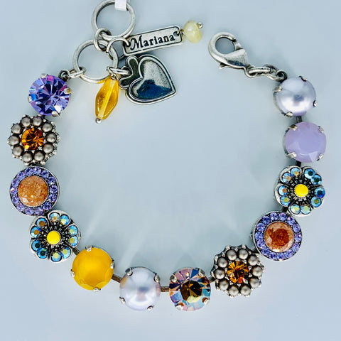 Mariana Medium Bracelet in Macaron on Silver