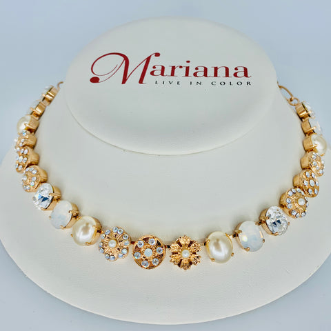 Mariana Medium Ovals Necklace in Bermuda on Rose Gold