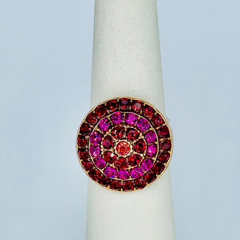 Mariana Ring Red on Rose Gold
