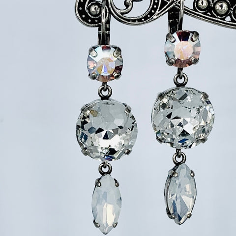 Mariana Earring Triple Drop on Silver