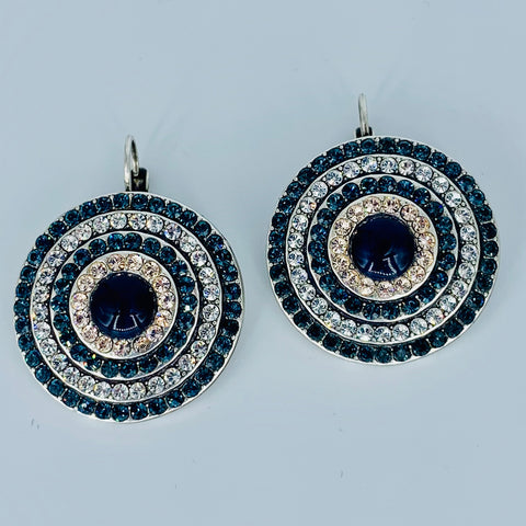 Mariana Blues Earrings on Silver Large