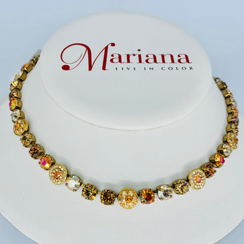 Mariana Necklace Caramel on European Gold