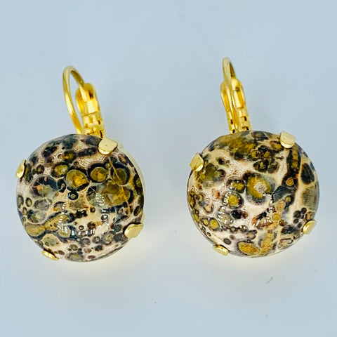 Mariana Large Earrings Browns on Gold