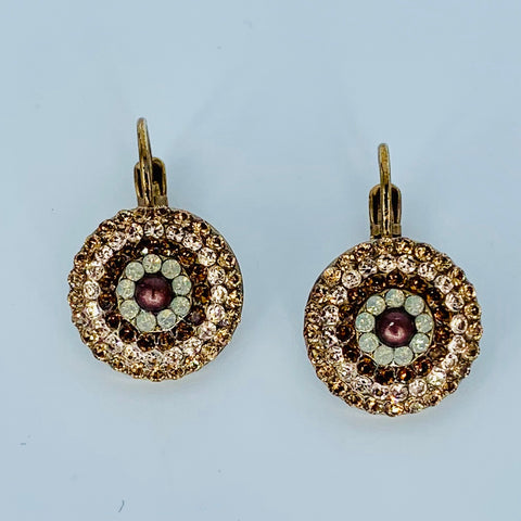 Mariana Concentric Circles Earrings Aphrodite on European Gold