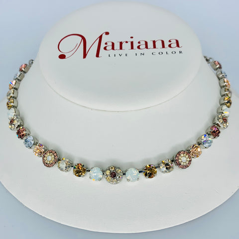 Mariana Necklace Cream Brule on Silver