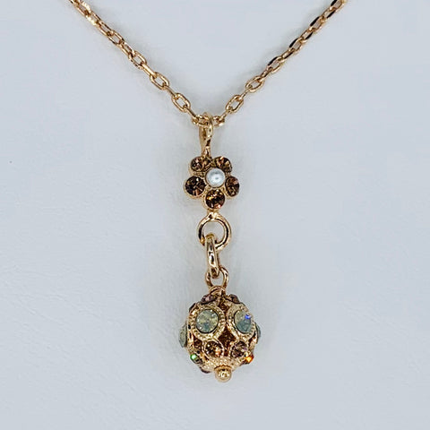 Mariana Filigree Necklace in Neutrals on Rose Gold