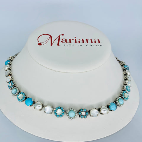 Mariana Medium  Necklace in Polar Paradise on Silver