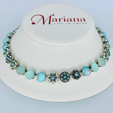 Mariana Medium Ovals  Necklace in Athena on Silver