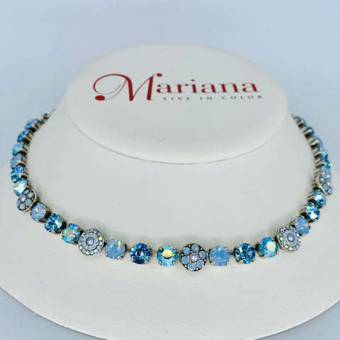 Mariana Necklace Periwinkle on Silver