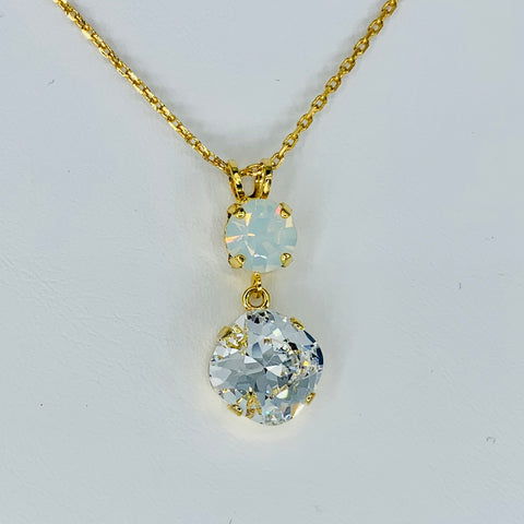 Mariana Double Pendant Bermuda on Gold