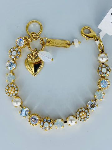 Mariana Small Bracelet in Bermuda on Gold