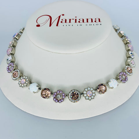 Mariana Medium Necklace in Mineral Snowflake on Rhodium