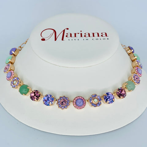 Mariana Medium  Necklace in Lavender on Rose Gold
