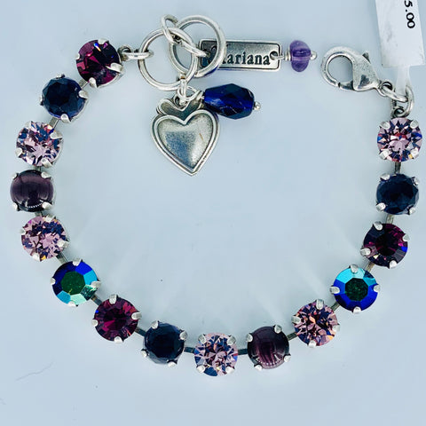 Mariana  Small Bracelet Purples on Silver