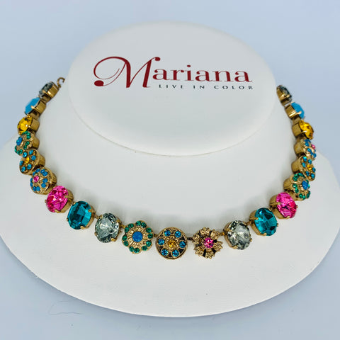 Mariana Medium Ovals  Necklace in Selene on European Gold